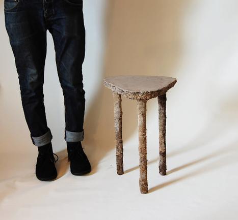 Lucy le tabouret en béton fibré par 2Tools Lab - Blog Esprit Design | Le béton créatif et poétique | Scoop.it