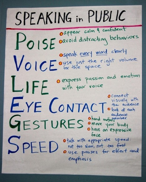 PVLEGS: A Public Speaking Acronym that's Transforming my Students into Speakers, not just Talkers | Teaching the Core | Wiki_Universe | Scoop.it