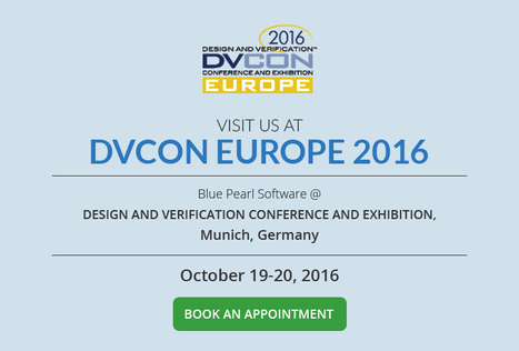 Demo Request DVCon Europe 2016 - Blue Pearl Software Inc. | Blue Pearl Software | Scoop.it