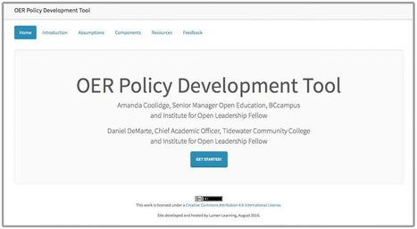 Announcing the OER Policy Development Tool | BCcampus OpenEd Resources | OER & Open Education News | Scoop.it