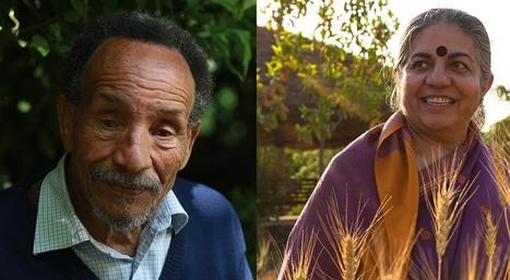Rencontre Vandana Shiva et Pierre Rabhi : coopérer pour le changement de société - Kaizen magazine | systèmes d'échanges locaux, AMAPS, monnaies locales et autres alternatives | Scoop.it