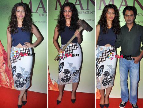 Radhika Apte Flaunts Her Curves At Manjhi Trailer Launch | Bollywood Movies News | Scoop.it