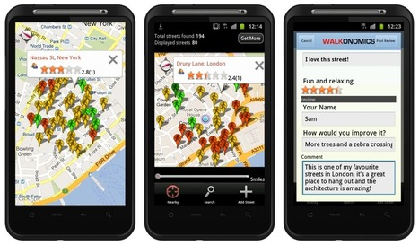 Using Smartphones to Improve Walkability | green streets | Scoop.it