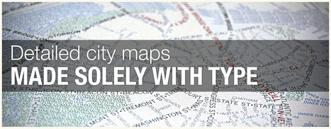 Typographic Maps | Cartografia Digital | Scoop.it