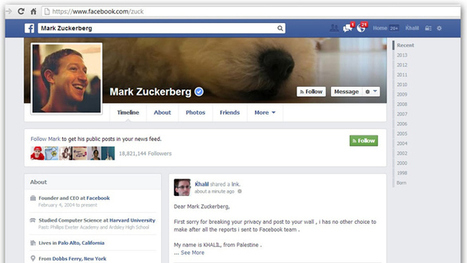#Hacker posts #Facebook bug report on #Zuckerberg's wall | ten Hagen on Social Media | Scoop.it