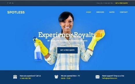 Spotless WordPress Cleaning Service Company Theme   Free Premium WordPress Themes   Scoop.it