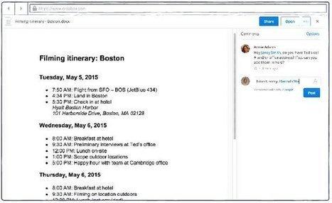 Dropbox s'inspire de Google Drive pour le travail collaboratif | François MAGNAN  Formateur Consultant et Documentaliste | Scoop.it
