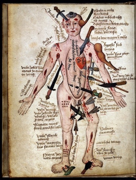 Nag on the Lake: Wound Man, c.1400s | Archaeology News | Scoop.it