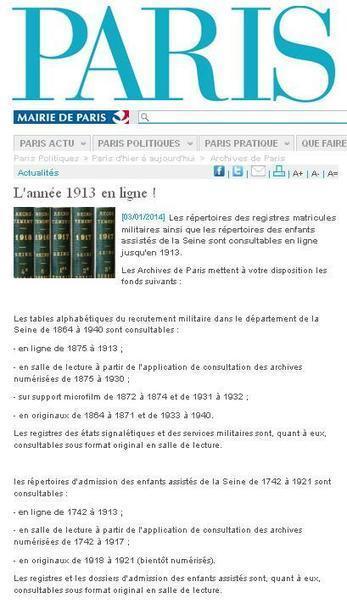 AD 75 : Nouvelles mises en ligne | Nos Racines | Scoop.it