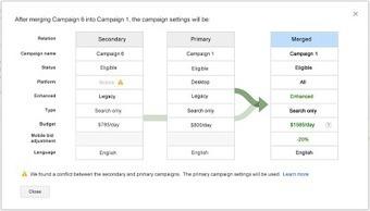 Inside AdWords - Français: Passez plus facilement aux campagnes universelles grâce au nouveau centre de mise à jour AdWords | Curation SEO & SEA | Scoop.it