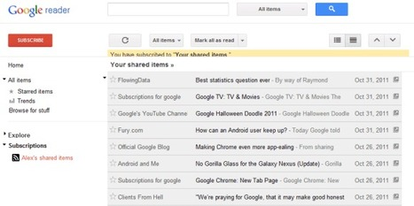 Read Your Shared Items in Google Reader | Google Sphere | Scoop.it