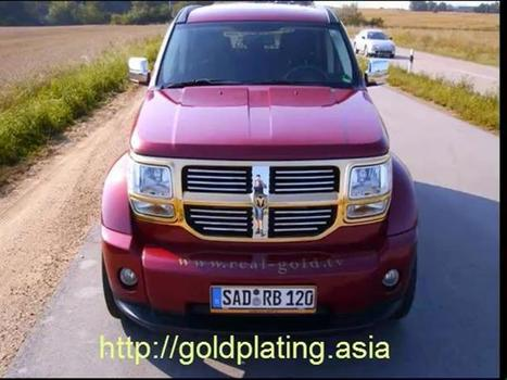 Kuehlergrill vergoldet - Dodge Nitro | Gold Coating Asia | Scoop.it