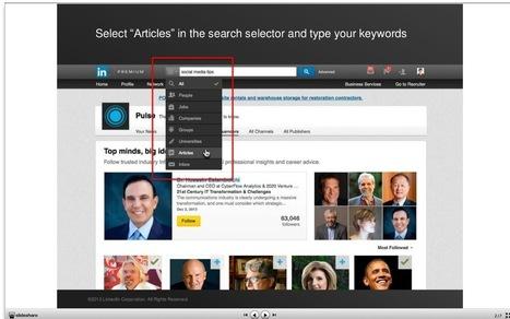 Linkedin vous aide à trouver les Influenceurs ... - Fondation ... | Social Media, Community Management, Webmarketing, SEO, e-mailling & CRM | Scoop.it