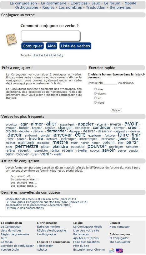 Le Conjugueur - Toute la conjugaison des verbes | Comptoir Numérique | Scoop.it