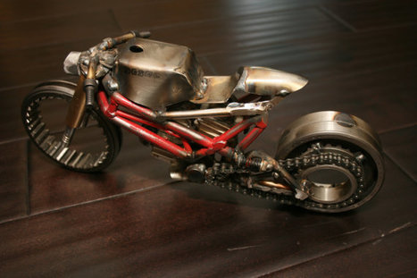 Ducati Cafe Racer sculpture | Snowmotoart | Etsy | Ductalk Ducati News | Scoop.it