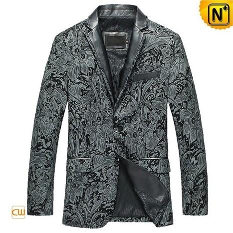 New York Mens Printed Leather Blazer Jacket CW850819 | Leather Blazer Jacket | Scoop.it