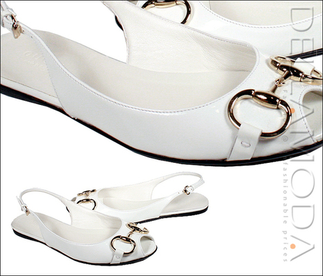 Gucci Shoes for Women White flat Designer Sandals | Wedding shoes | Scoop.it