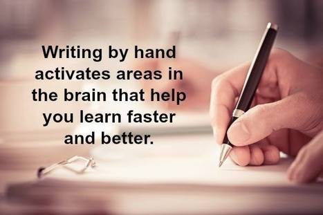 Neuroscientists say handwriting activates the brain | Biotech and Beyond | Scoop.it