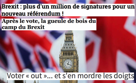 Brexit : comment les médias français ont pris leurs rêves pour des réalités | Critique du changement | Scoop.it