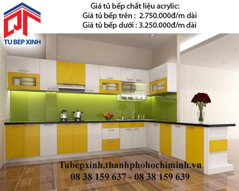 Tủ bếp Acrylic TB3503 - Tu-bep-acrylic-TB3507 - tu van du hoc uy tin|du hoc gia re - | TỦ BẾP MFC - GIÁ TỦ BẾP MFC | Scoop.it