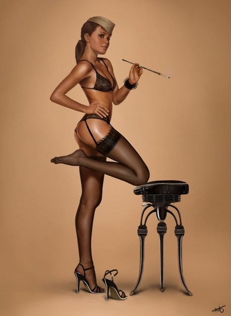 Pin Up Girl Illustrations | youyouk | Scoop.it