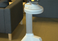 A prototype of Ava, iRobot's mobile robot, takes in her surroundings. - CNET | The Robot Times | Scoop.it