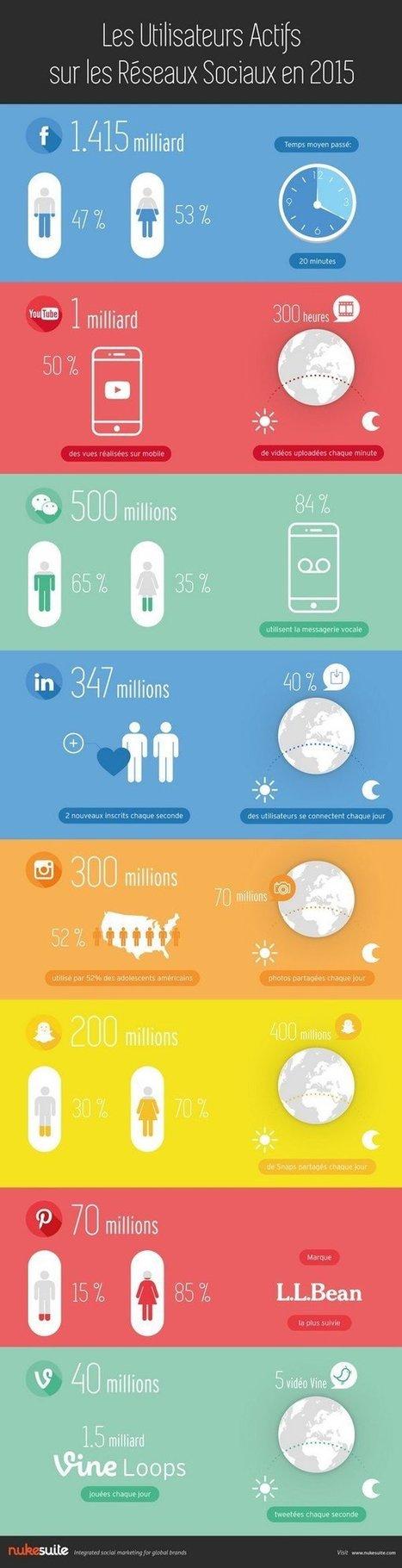 [Infographie] Quels utilisateurs sur quels réseaux sociaux en 2015 ?   Réseaux sociaux   Scoop.it