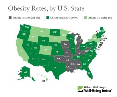 Obesity Rate Lowest in Hawaii, Highest in Mississippi | Optimal Health and Aging-An Evidence-Based  Medicine Approach | Scoop.it