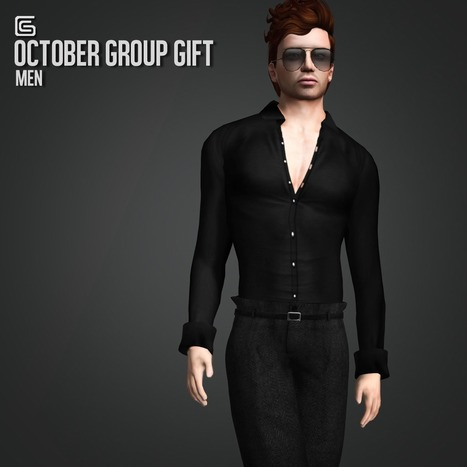 Mesh Black Shirt and Pant October 2013 Group Gift by Gizza Creations | Teleport Hub - Second Life Freebies | Second Life Freebies | Scoop.it