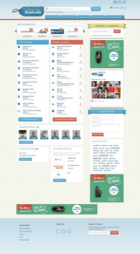 ShopCodes UK Discount Vouchers Website Design and Development | Magento eCommerce CMS Design and Development | Scoop.it
