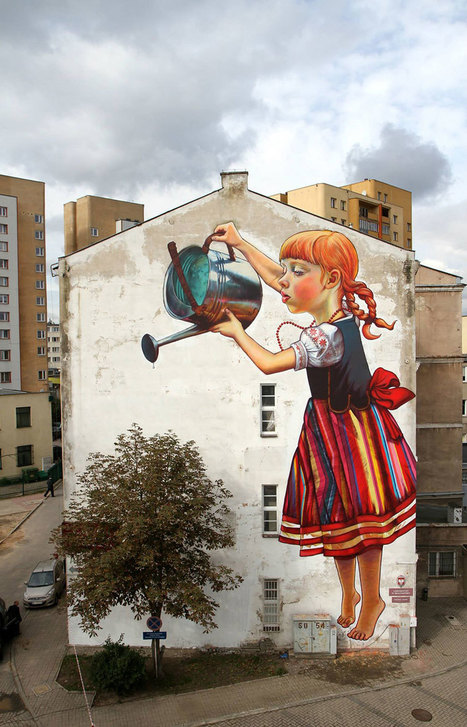 28 Pieces Of Street Art That Cleverly Interact With Their Surroundings | The Urban Canvas | Scoop.it