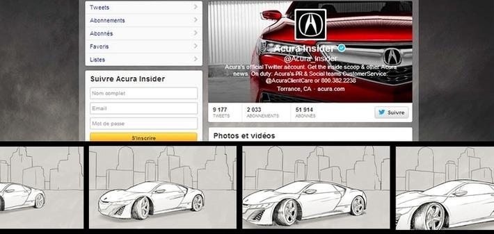La marque de voitures Acura utilise Twitter comme un flipbook pour créer une animation visuelle   Médias sociaux : Conseils, Astuces et stratégies   Scoop.it