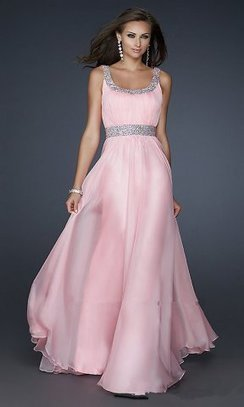 Cheap Long Pink Scoop Neck Prom Dresses By La Femme 17473 [long pink chiffon prom dress] - $179.90 : lafemme2013outlet.com | long prom dresses | Scoop.it