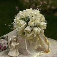 [US$ 19.99] Classic Round Satin Bridal Bouquets (124032096) | beautifuldresses | Scoop.it