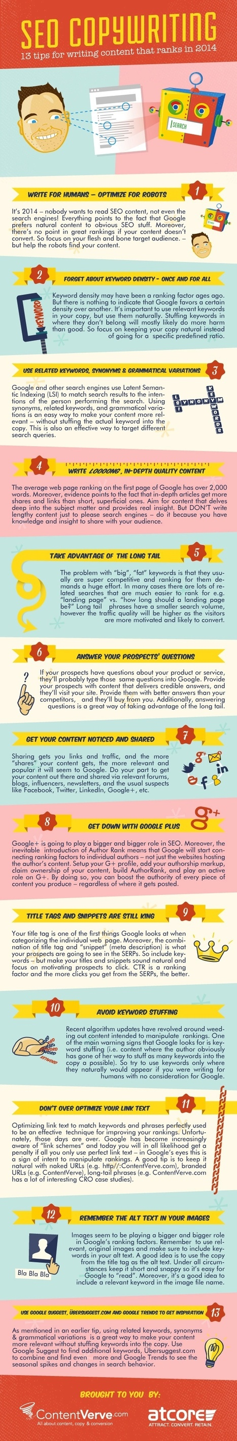 13 Essential Copywriting Tips to Help You Rank in Search in 2014 [Infographic] | digital marketing strategy | Scoop.it