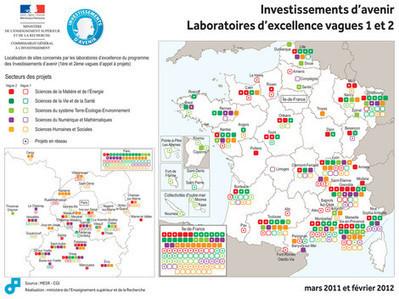 Enseignement supérieur et Recherche : localisation des projets Investissements d'Avenir Labex   LYFtv - Lyon   Scoop.it