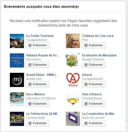Facebook propose un bouton s'Abonner pour les événements proches de votre localité | Clic France | Scoop.it