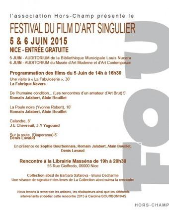 Cinéma documentaire autour des arts singuliers: le Festival Hors-Champ à Nice | Art brut | Scoop.it