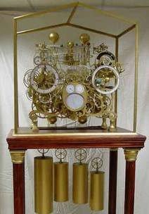 The Automata Blog: Mind-bogglingly beautiful and complex custom-made astronimical skeleton clock | automata and automatons | Scoop.it