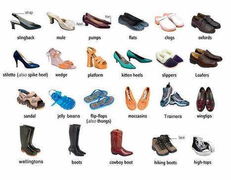 Shoes learning English | English vocabulary with Danka | Scoop.it