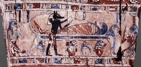 """The Ancient Egypt burial and rebirth """"narrated"""" in a fragment of a coffin. 