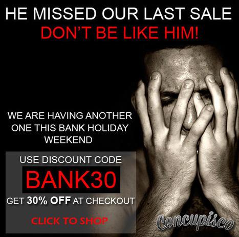 Special Bank Holiday Sale! – Men's Underwear and Swimwear Blog | www.concupisco.com - Mens Underwear and Swimwear | Scoop.it