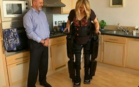 Robot skeleton helps wheelchair-users walk again - Telegraph   Scooters don't have to be red!   Scoop.it