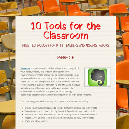 10 Tools for the Classroom | Technology for School Administrators | Scoop.it
