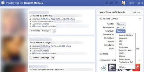Facebook: 5 Utilisations du Graph Search pour votre Entreprise - Emarketinglicious | So'Mediatic | Scoop.it