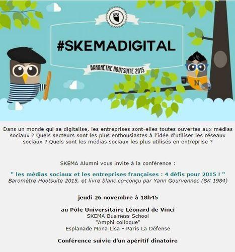 Evènement SKEMA Alumni : Les médias sociaux et les entreprises françaises : 4 défis pour 2015 ! - PARIS | The Kore ! | Scoop.it