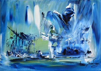 Artiste peintre contemporain ame sauvage tableau peinture abstraite contemporaine moderne | Peinture abstraite contemporaine | Scoop.it