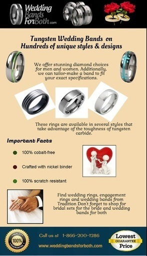 Tungsten wedding band collection | weddingbandsforboth | Scoop.it