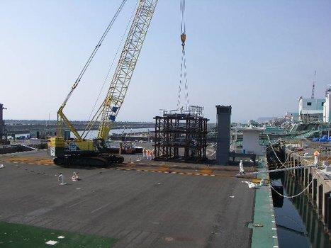 [Photos] Préparation à l'installation de la couverture du réacteur 1 - Tepco - juillet 2011 | Facebook | Japon : séisme, tsunami & conséquences | Scoop.it