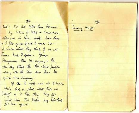 London War Diary: Monday 18th January 1942   London War Diary. Original written pages. 1940   Scoop.it